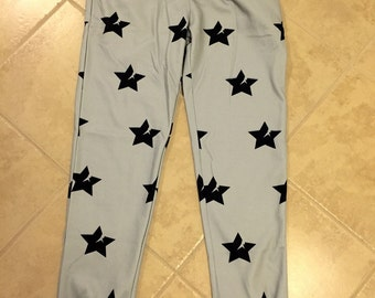 Gray Crvck Star Joggers