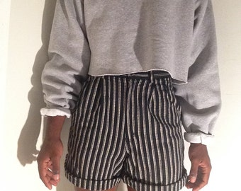 Vintage High waisted striped shorts (Size- 10 in Womens)