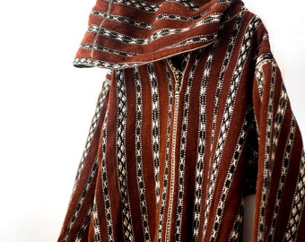 Authentic Handwoven Djellaba Hooded Robe from Morocco