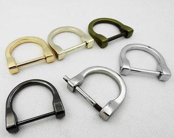 Screw D Rings , Golden Purse D Clasp, D Buckle, Bag Clasp, Handbag Connector, Chain D Clasp, Purse Accessories