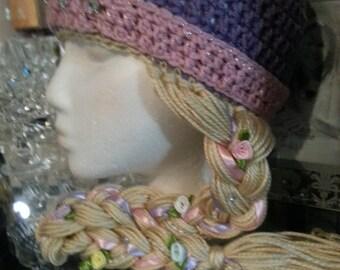 Repunzel crochet  beanie