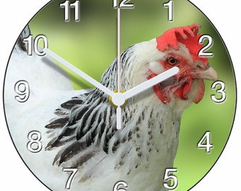 White Hen Clock