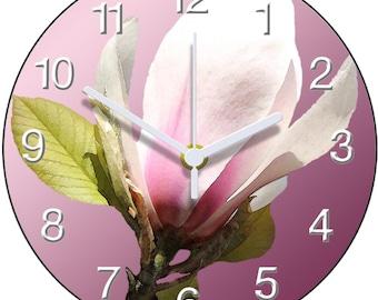 Pink Magnolia Clock