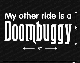 "Disney World Haunted Mansion Doombuggy 8""x4"" Vinyl Decal"