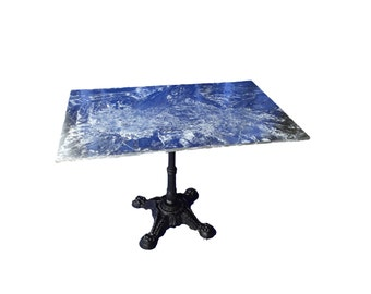 The Rectangular Coffee Zinc Table Top from Artisan Cast Zinc- Top Only