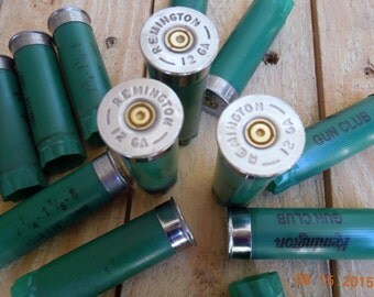 Shotgun shells Remington GREEN 12 gauge once/fired empty shotgun shells (25 size lot)