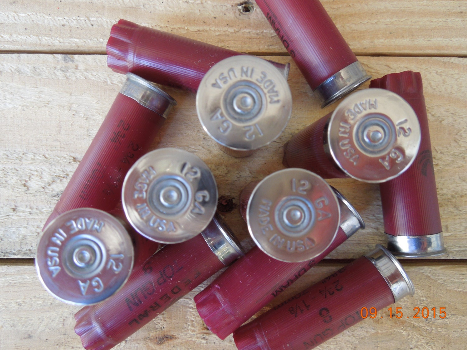 Shotgun shells 12 size lot Garnet/Burgundy empty/once fired