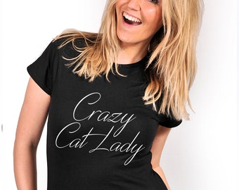 Crazy Cat Lady T-shirt S M L XL XXL