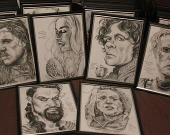 Game of Thrones set of 6 framed art prints
