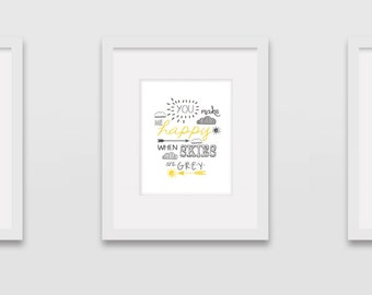 You Are My Sunshine - Set of 3 Wall Art Prints