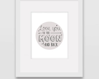 To the Moon & Back - Wall Art Print