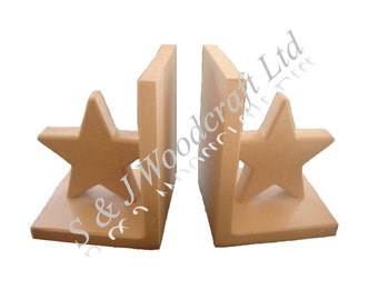 1 Pair Mdf Bookends, Blank Ready to Decorate. 25mm Thick Shape Different Shapes Available