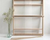 Weaving Loom XXL with stand (optional), rotating warp bars and heddle bar / Frame Loom / Weefraam
