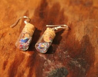 Earrings spring jars