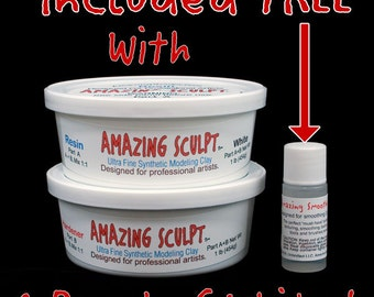 AMAZING SCULPT - White 1 lb Sculpting Clay - Great for Breyer CM