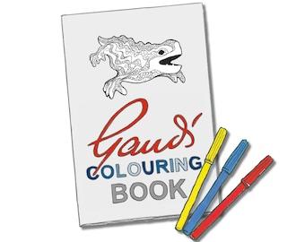 Day 24 Print: Gaudi colouring book