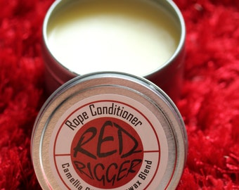 Red Rigger Rope Wax Conditioner, choice of bees wax or soy wax & camellia oil blend, BDSM, bondage, shibari, kinbaku, jute, hemp, homemade
