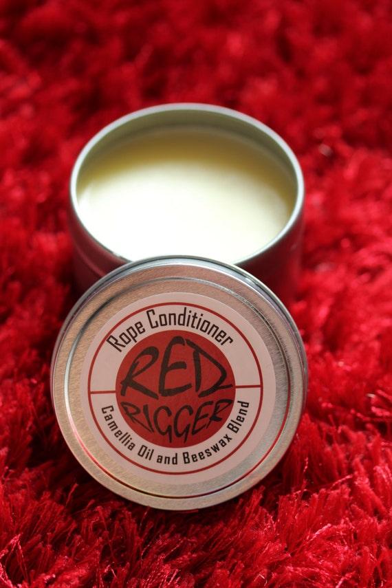Red Rigger Rope Wax Conditioner, choice of bees wax or soy wax & camellia oil blend, BDSM, bondage, shibari, kinbaku, jute, hemp, homemade