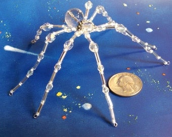 Crystal beaded wire spider.