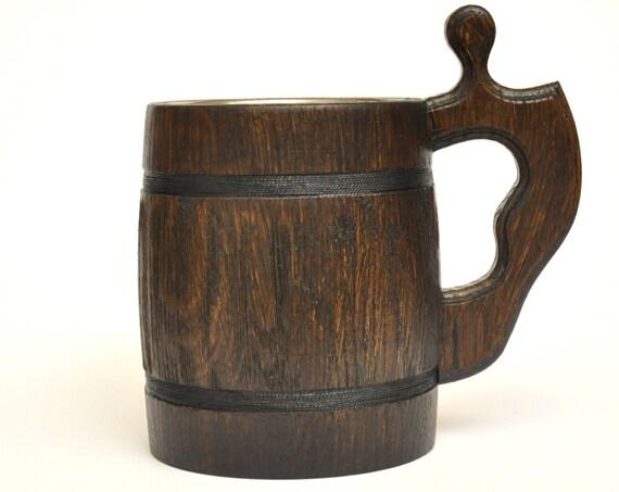 Wooden Beer Mug Cool Groomsmen Gift Groomsmen Wooden Beer