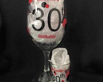 40th Birthday Shot Glasses