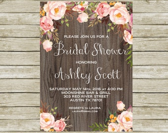 Bridal Shower Invitation Printable, Bridal Shower Invites