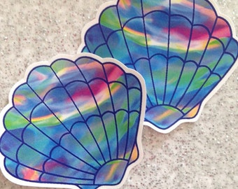 Multicoloured Mermaid Shells Iron on Transfers