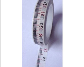 Washi tape measuring tape