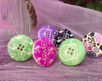 Bicycle pattern button ring