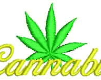 Cannabis Embroidery Design