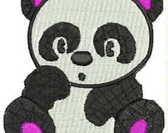 Cute Panda Bear Embroidery Design