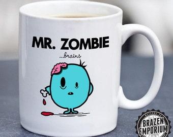 Mr Zombie ©, Mr Men Inspired Funny Coffee - Tea Mug