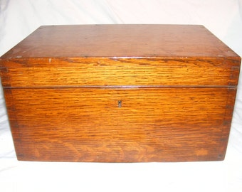 Brass Hinged and Fitted Wooded Box by Army & Navy C.S.L
