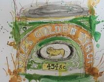 Lyle's Golden Syrup A4 art print