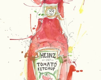 Heinz Tomato Ketchup A4 art print