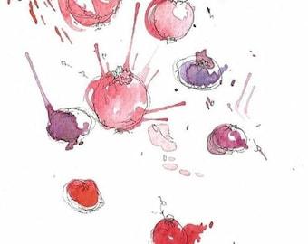 berries art print 6x4