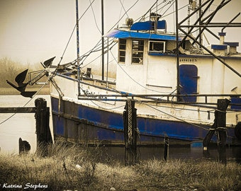 Cameron Shrimp Boat, Louisiana photos, Cajun, Louisiana, boats, bayou, water