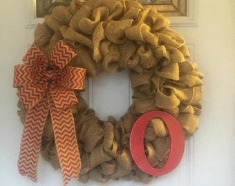 Burlap and Red Wreath