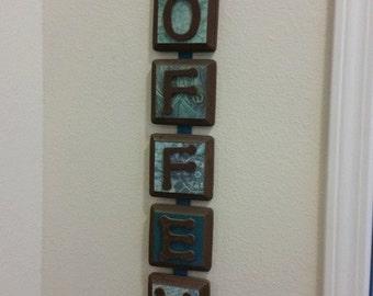 custom wood last name sign