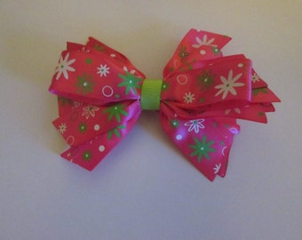 Flower hairbow