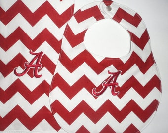 Ready to Ship  - Alabama bib and burp cloth - Ready to Embroider