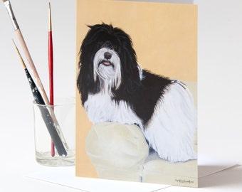 "Greeting Card 5 x 7 in. Of Original Painting ""Ricky Ricardo"" Painted by Award-Winning Artist Ingrid Lockowandt"