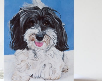 """Greeting Card 5 x 7 in. Of The Original Painting """"Daphne"""" painted by Award-Winning Artist Ingrid Lockowandt"""