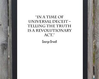George Orwell Quote Digital Print Universal Deceit