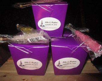 Personalized Pint Sized Chinese Takeout Containers, favor boxes
