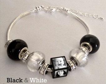 European photo bead bracelet - Personalized with your Photos!