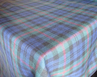 "Baird Modern Tartan Scottish Tablecloth 98"" x 57"""
