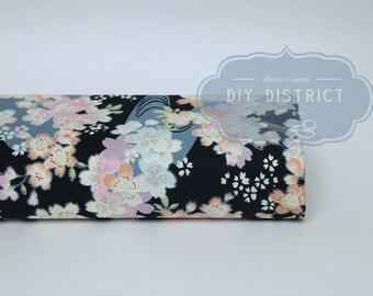 Fabric flower Navy Blue Japanese Sakura.