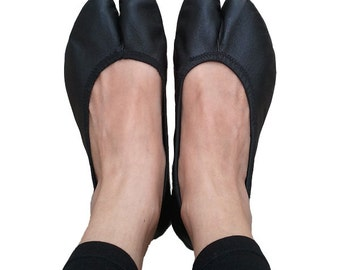 Leather Tabi Ballerinas