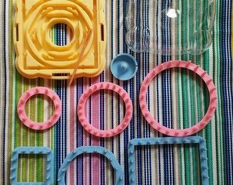 Mini loom 9 pieces-Flower loom-weaving for flowers-Mini loom-DIY flower kit-